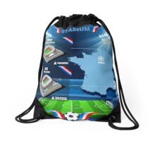 Paris Nice Stadium Infographics Drawstring Bag