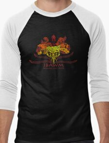 JBAWM Red Flower Men's Baseball ¾ T-Shirt