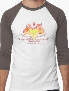 JBAWM Red Flower Men's Baseball ¾ T-Shirt