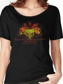 JBAWM Red Flower Women's Relaxed Fit T-Shirt