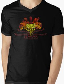 JBAWM Red Flower Mens V-Neck T-Shirt