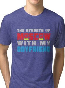 The Hungry Hearts - Laika [Streets of Moscow with my Boyfriend] Tri-blend T-Shirt