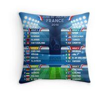 UEFA EURO 2016 Finals Schedule Throw Pillow