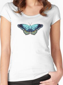 Butterfly Blue Women's Fitted Scoop T-Shirt