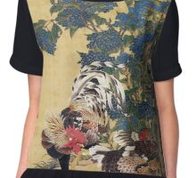 Two Roosters Chiffon Top