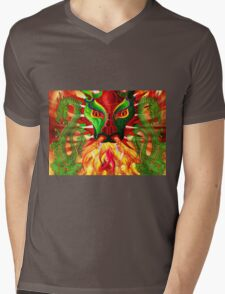 DRAGON FIRE Mens V-Neck T-Shirt