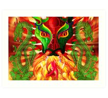 DRAGON FIRE Art Print