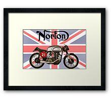 NORTON MANX UNION JACK Framed Print