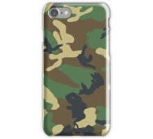 Repeating Camouflage Pattern iPhone Case/Skin