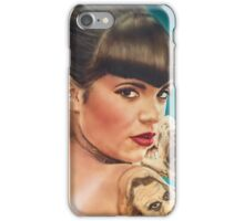 Tattoo lady ( pin-up portrait iPhone Case/Skin