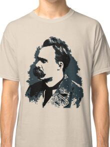 Friedrich Nietzsche portrait vector drawing  Classic T-Shirt