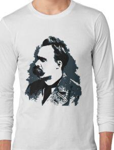 Friedrich Nietzsche portrait vector drawing  Long Sleeve T-Shirt
