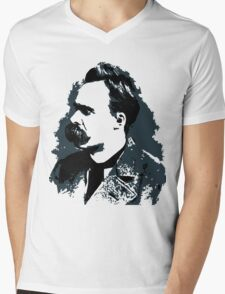Friedrich Nietzsche portrait vector drawing  Mens V-Neck T-Shirt
