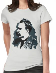 Friedrich Nietzsche portrait vector drawing  Womens Fitted T-Shirt
