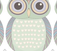 Cool Owl Trio Sticker