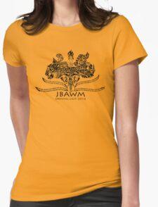 JBAWM Solid Black Red Flower T-Shirt