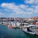 Scarborough Harbour. by John (Mike)  Dobson