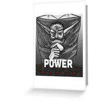 Baron Praxis: Power Greeting Card