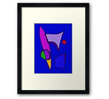Various Mirrors in Blue Framed Print