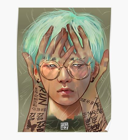 Glasses Yoongi Poster