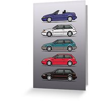 Stack of Volvo 480 Greeting Card