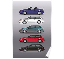 Stack of Volvo 480 Poster