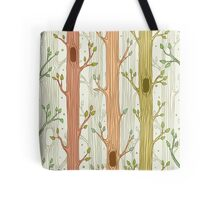 Seamless pattern with trees, light Tote Bag