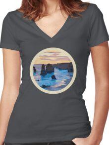 Twelve Apostles Women's Fitted V-Neck T-Shirt