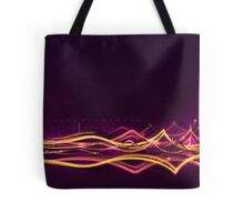Abstract Background with Light Waves Tote Bag