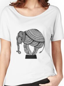 Gorgeous Intricate Mandala Elephant Women's Relaxed Fit T-Shirt