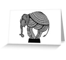 Gorgeous Intricate Mandala Elephant Greeting Card
