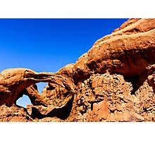 Double Arches at Arches National Park Photographic Print