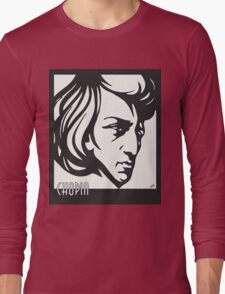 Chopin modern art deco style Long Sleeve T-Shirt