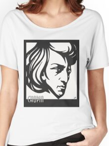 Chopin modern art deco style Women's Relaxed Fit T-Shirt