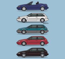 Stack of Volvo 480 Baby Tee