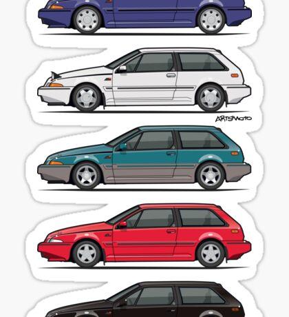 Stack of Volvo 480 Sticker