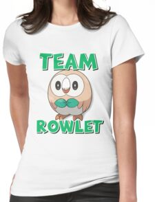Team Rowlet ! Womens Fitted T-Shirt