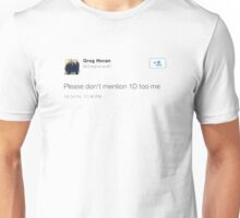 greg // one direction  Unisex T-Shirt