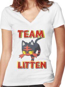 Team Litten ! Women's Fitted V-Neck T-Shirt