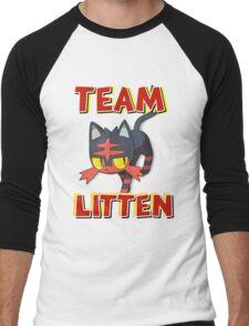 Team Litten ! Men's Baseball ¾ T-Shirt