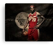 Young Lebron Canvas Print
