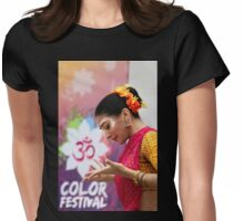 HOLI Indian Color Festival Dancer   Womens Fitted T-Shirt