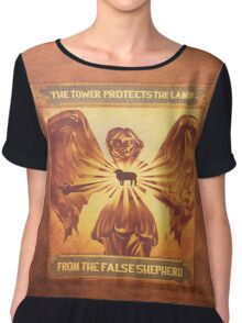 BioShock Infinite – The Tower Protects the Lamb from the False Shepherd Poster Chiffon Top