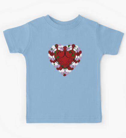 Rose Heart Kids Tee