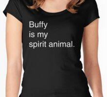 Buffy Spirit Animal Women's Fitted Scoop T-Shirt