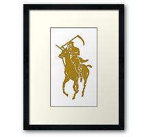 yellow grim reaper polo Framed Print