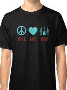 Colorful Peace Love Music Classic T-Shirt
