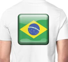 BRAZIL, BRAZILIAN FLAG, FLAG OF BRAZIL, BUTTON, PURE & SIMPLE, Brazil, Football, Olympics, on Yellow Unisex T-Shirt