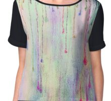 Funky Colorful Rain Drops Chiffon Top