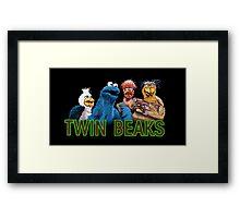 Twin Beaks Framed Print